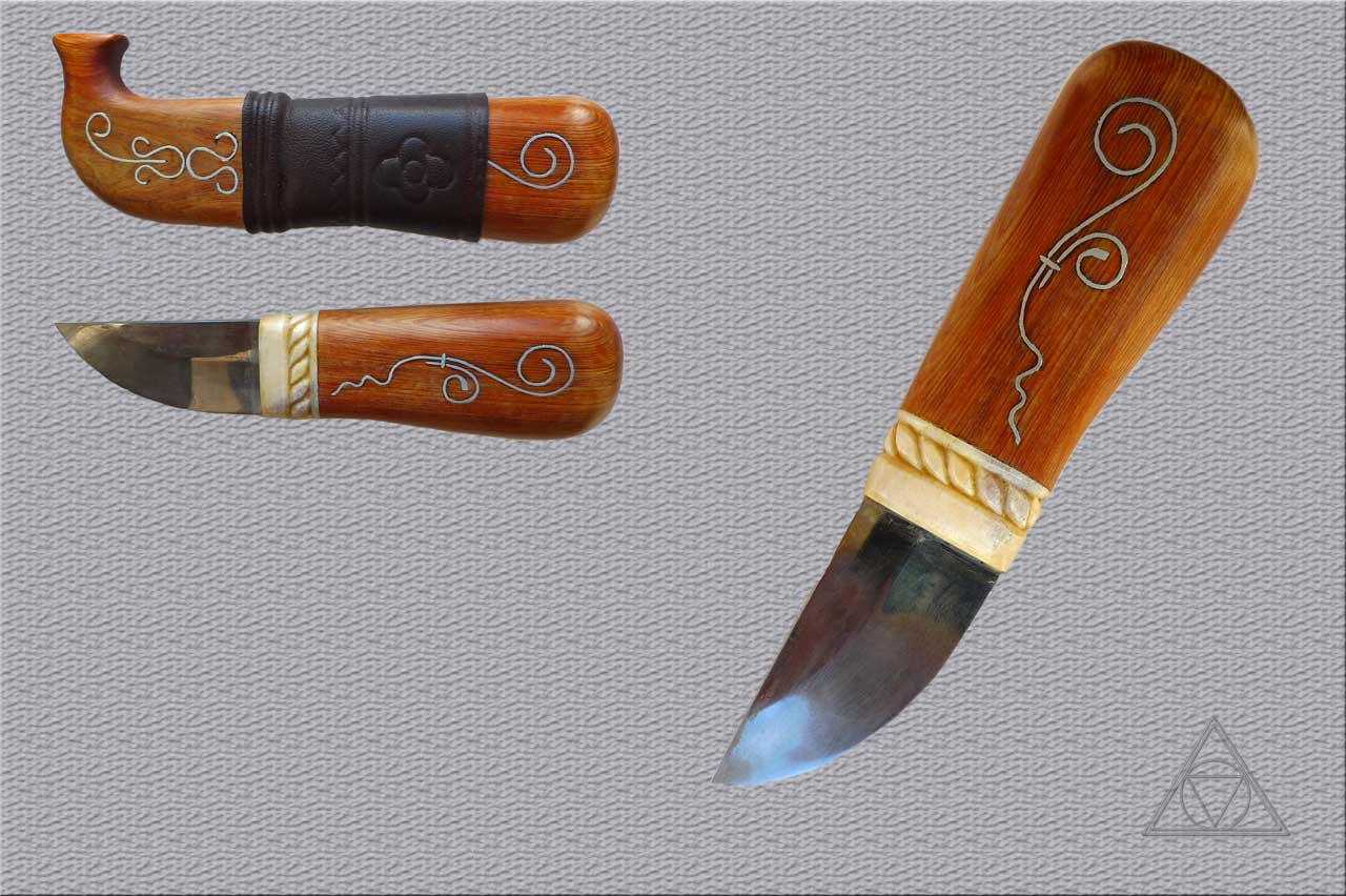Как сделать рисунки на рукояти ножей